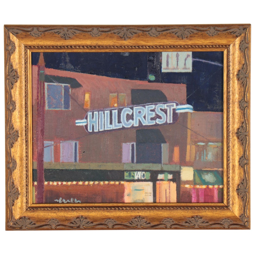 """Kevin Yuen Oil Painting """"Hillcres, San Diego CA"""""""