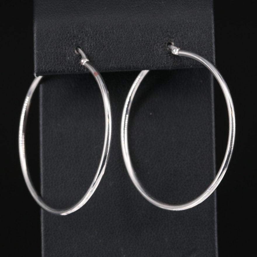 14K Large Hoop Earrings