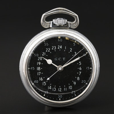 1944 Hamilton AN-5740- 1G C.T. MIlitary Navigation Pocket Watch