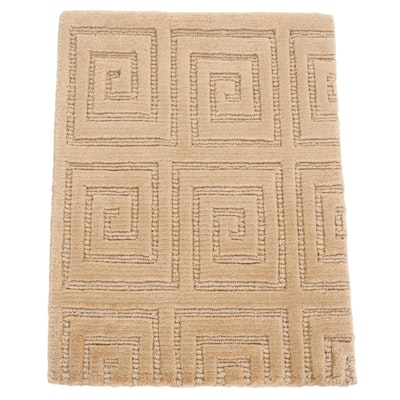 1'7 x 2'1 Hand-Knotted and Tufted Tibetan Accent Rug