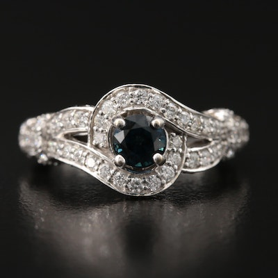 Le Vian 14K Sapphire and 1.50 CTW Diamond Ring