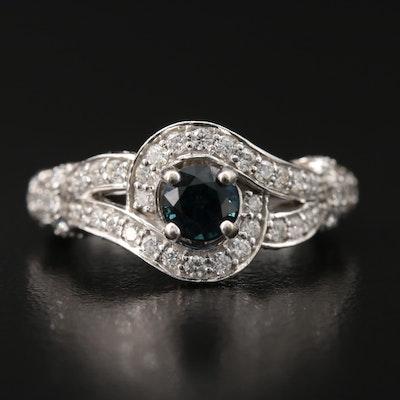 Le Vian 14K Sapphire and 1.50 CTW Diamond Ring