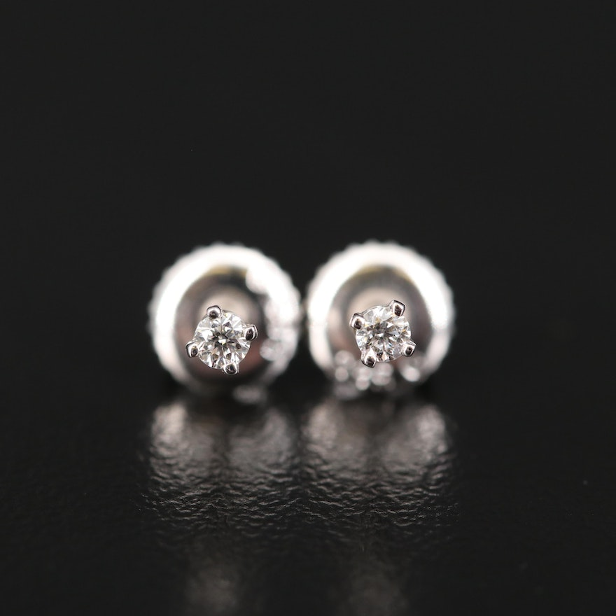 14K 0.06 CTW Diamond Stud Earrings