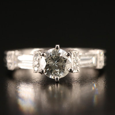 Vintage Style Platinum 1.60 CTW DIamond Ring