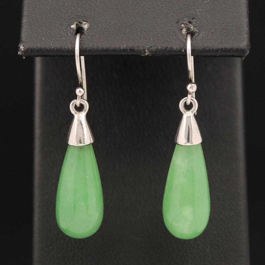Sterling Jadeite Earrings