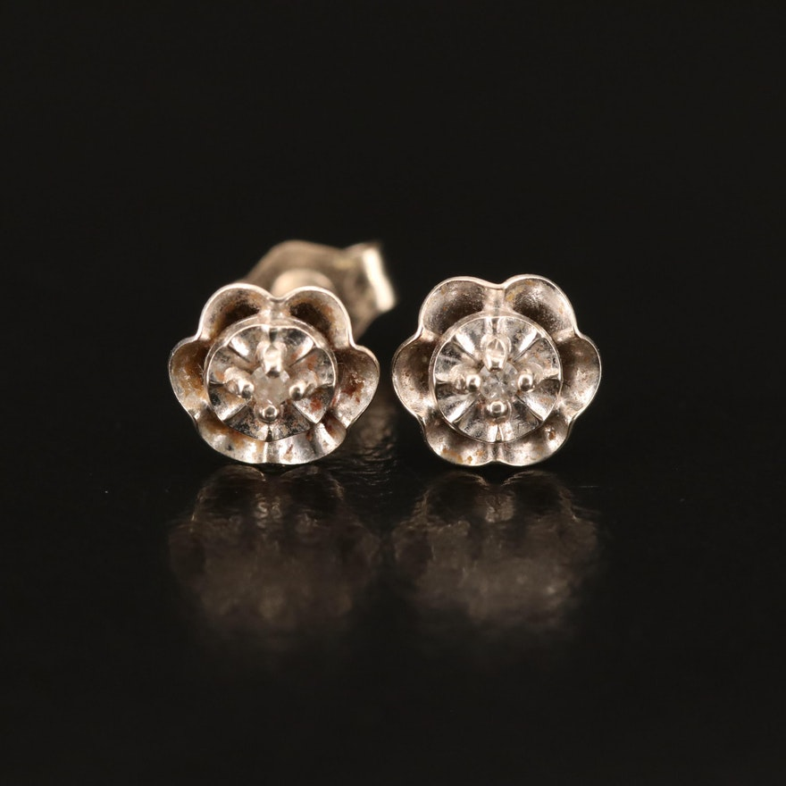 14K 0.02 CTW Diamond Stud Earrings