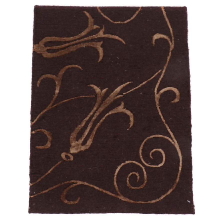 1'7 x 2' Hand-Knotted and Tufted Tibetan Accent Rug
