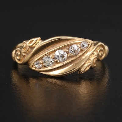 Early 1900s 18K Diamond Band