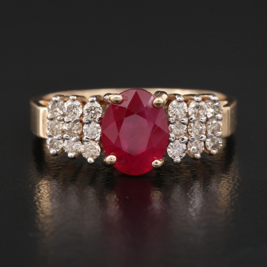 Le Vian 14K 1.54 CT Ruby and Diamond Ring