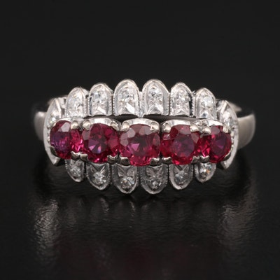 Vintage 10K Ruby and Diamond Ring