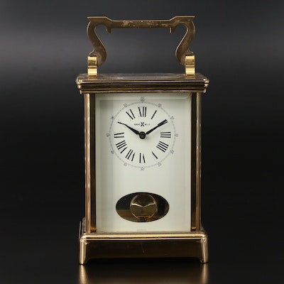 Howard Miller Brass Pendulum Carriage Clock