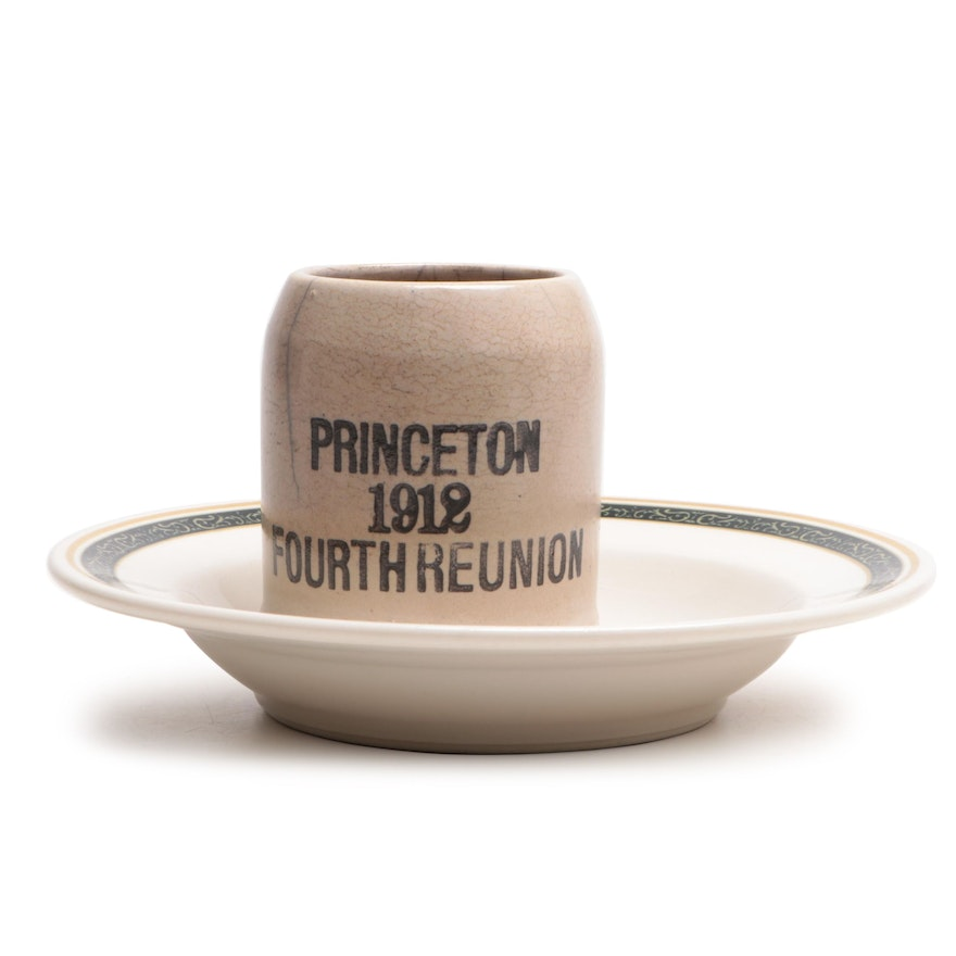Fulper Pottery Princeton Class Reunion Mug and Netherland Plaza Bowl