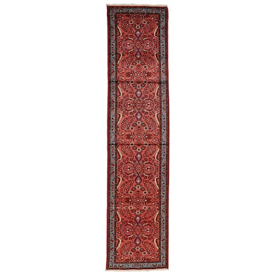 3'2 x 13'10 Hand-Knotted Persian Lilihan Carpet Runner
