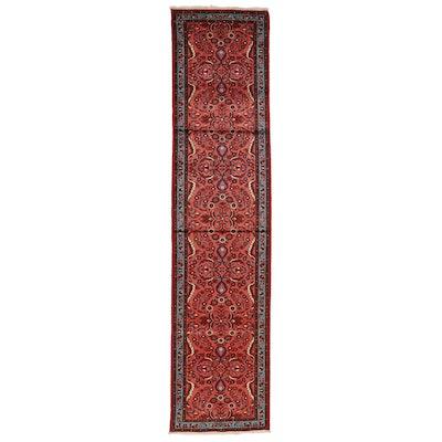 3'2 x 13'10 Hand-Knotted Persian Lilihan Carpet Runner