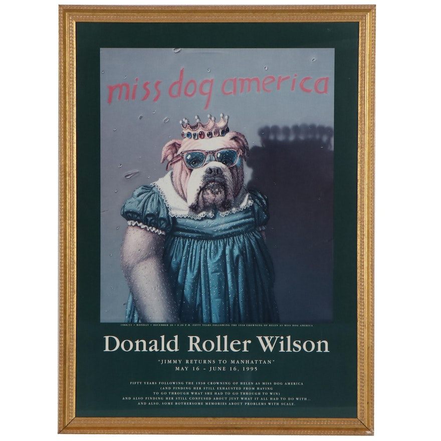 """Offset Lithograph Poster after Donald Roller Wilson """"Miss Dog America"""""""