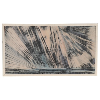 Norman Rupnow Abstract Oil Painting, 1970