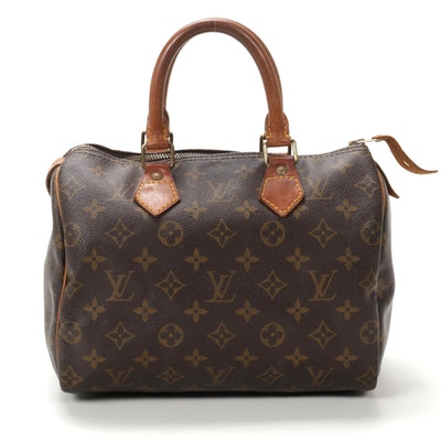 Louis Vuitton Speedy 25 in Monogram Canvas and Vachetta Leather Trim