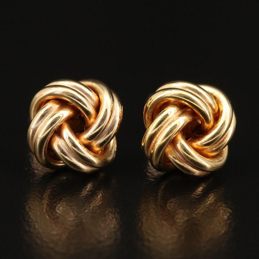 14K Knot Stud Earrings