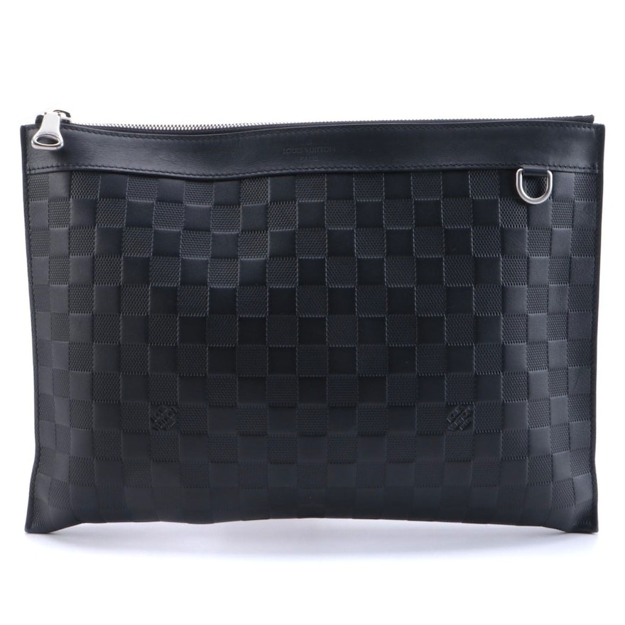 Louis Vuitton Damier Infini Discovery Pochette GM in Onyx Leather
