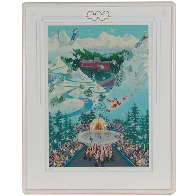 "Melanie Taylor Kent Serigraph ""Let the Winter Games Begin,"" 1988"