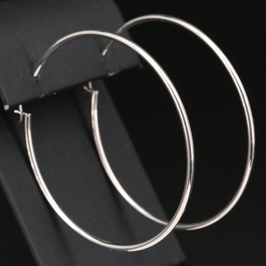 14K Large Hoop Earrings