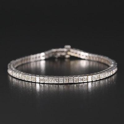 14K 6.50 CTW Diamond Line Bracelet