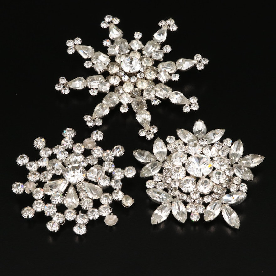 Rhinestone Brooches Featuring Weiss
