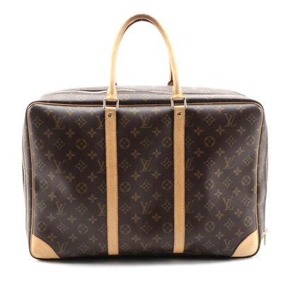 Louis Vuitton Sirius 45 Carry-On in Monogram Canvas and Vachetta Leather Trim
