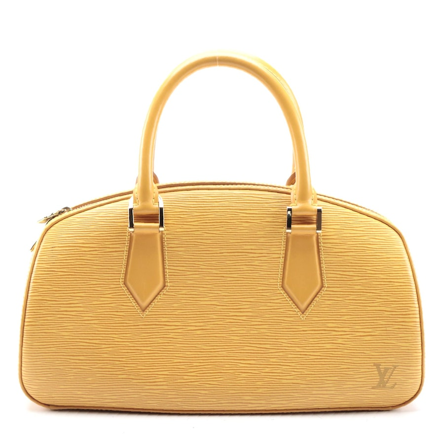 Louis Vuitton Jasmine Bag in Tassil Yellow Epi and Smooth Leather