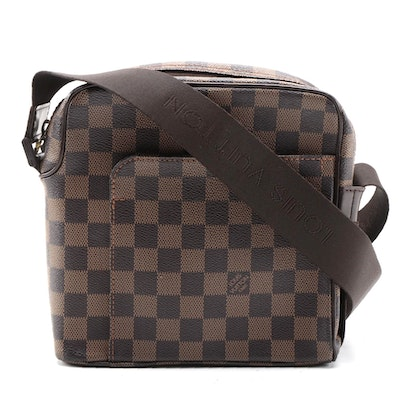 Louis Vuitton Olav PM Messenger Bag in Damier Ebene Canvas