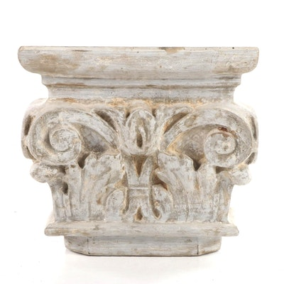 Neoclassical Style Faux-Stone Composite Capital