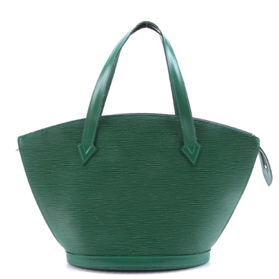 Louis Vuitton St. Jacques PM Bag in Borneo Green Epi and Smooth Leather