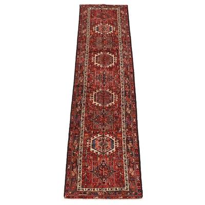 3'5 x 13'0 Hand-Knotted Persian Karaja Wool Long Rug
