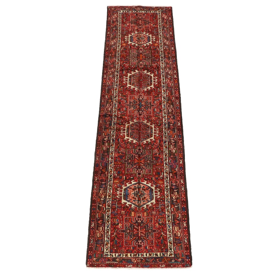 3'5 x 13'0 Hand-Knotted Persian Karaja Wool Long Rug