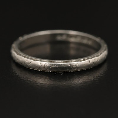 Art Deco Belais 18K Band