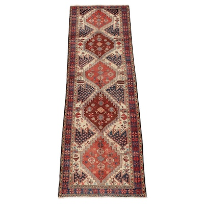 3'4 x 10'7 Hand-Knotted Persian Yalameh Wool Long Rug