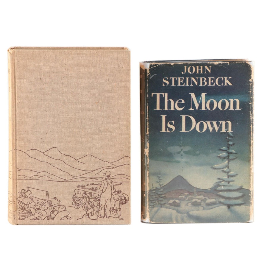 "First Trade Editions ""The Grapes of Wrath"" and ""The Moon is Down""by J. Steinbeck"