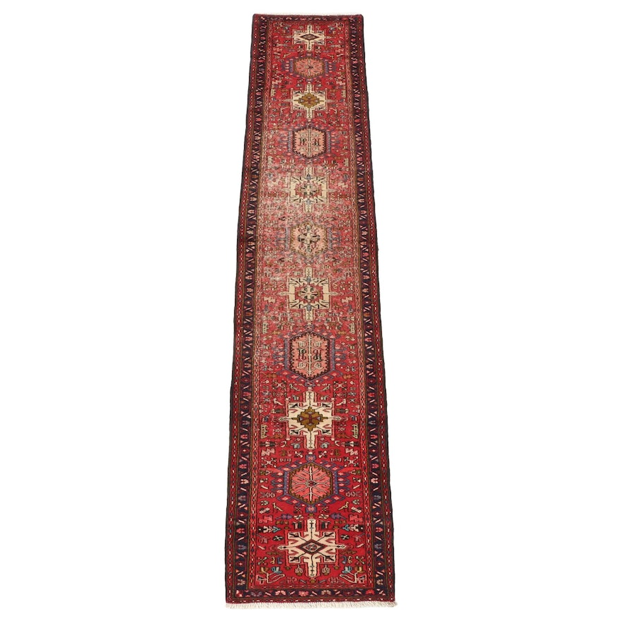 2'6 x 12'9 Hand-Knotted Persian Karaja Wool Carpet Runner