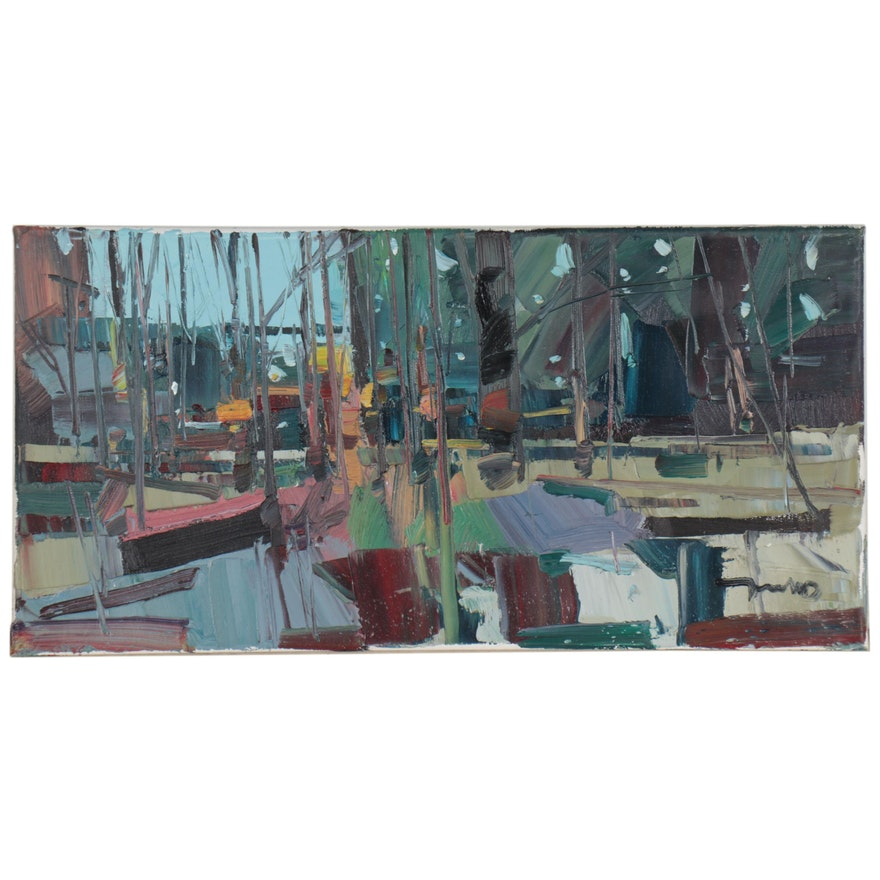 "Jose Trujillo Oil Painting ""Bite of Winter,"" 2021"