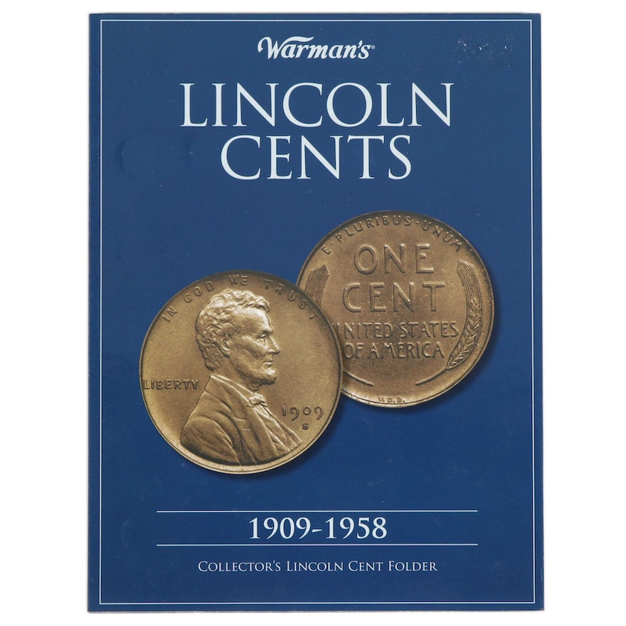 Warman's Collector's Lincoln Cent Folder, Lincoln Cents 1909 - 1958