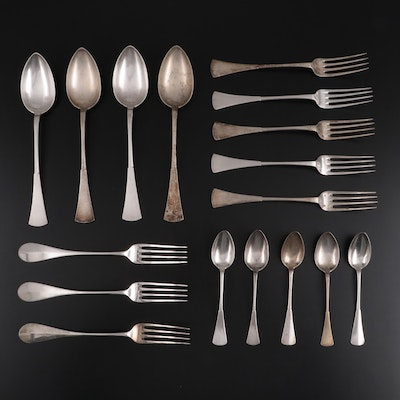 Alexander Sturm and Other Austro-Hungarian 800 Silver Flatware