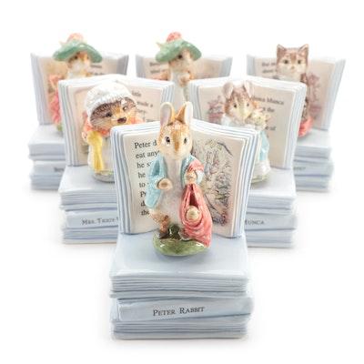 "Enesco ""Benjamin Bunny"" and Other Beatrix Potter Musical Figurines"