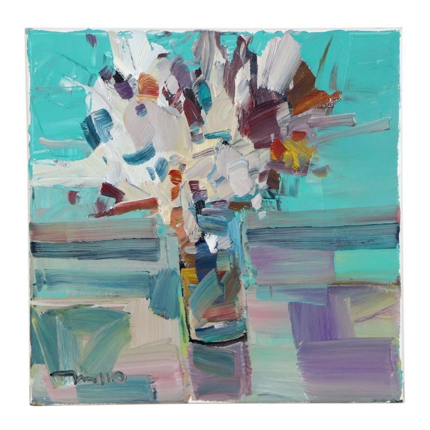 """Jose Trujillo Oil Painting """"Wild Flower Bouquet,"""" 2021"""