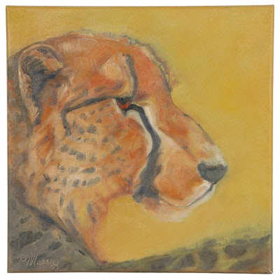 """Rebecca Manns Oil Painting """"Golden Prince,"""" 2021"""