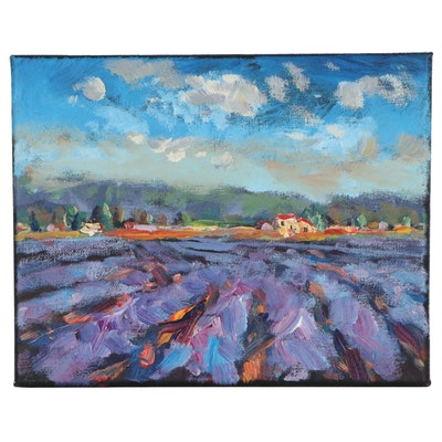 Leira Veylin Abstract Acrylic Landscape Painting, 2021