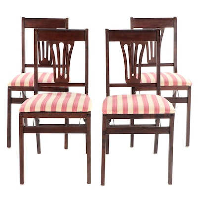 Four Federal Style Folding Side Chairs, Mid to Late 20th Century