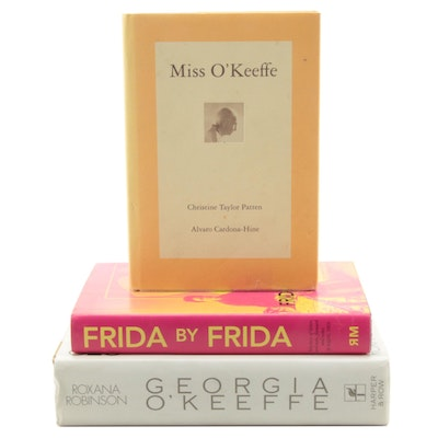 Frida Kahlo and Georgia O'Keeffe Art Books Including First Editions
