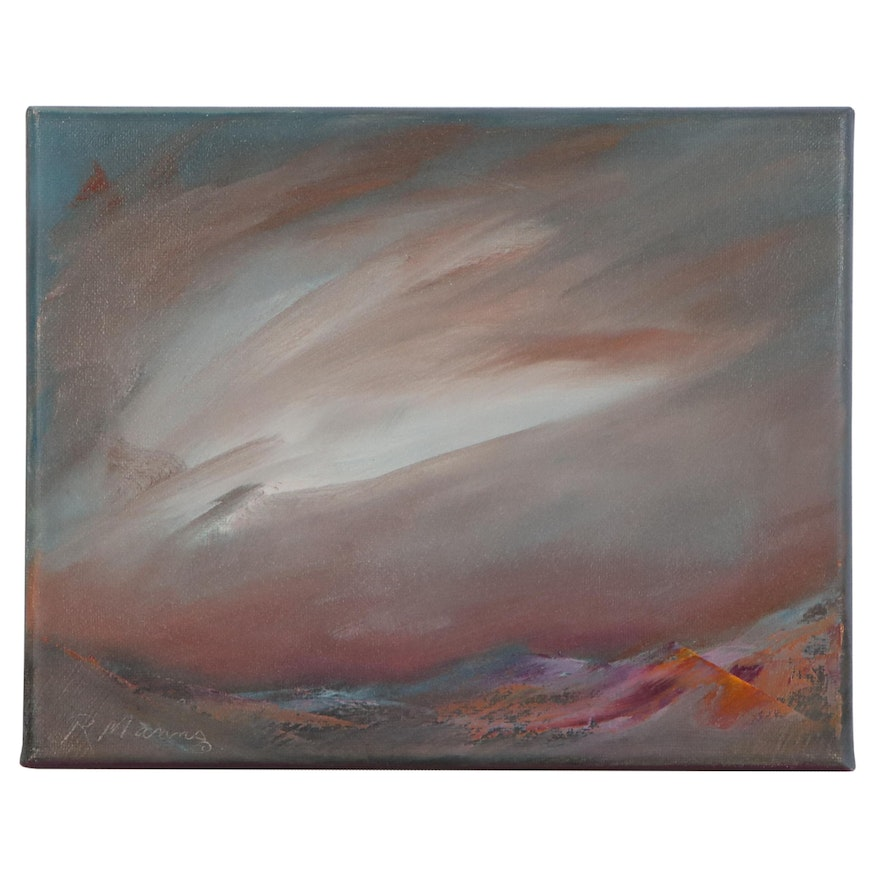 """Rebecca Manns Oil Painting """"Storm Over Rose Seas,"""" 2020"""