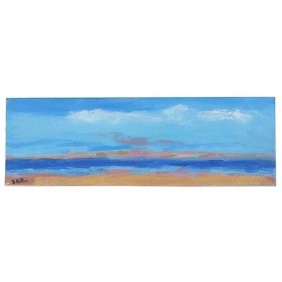 Betsy Heffron Acrylic Seascape Painting, 21st Century