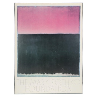 The Mark Rothko Foundation Offset Lithograph Poster, circa 1981